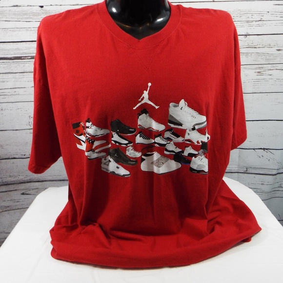 adb8550c862 Jordan Shirts | Air Sneakers Graphic Print 2xl Tshirt | Poshmark